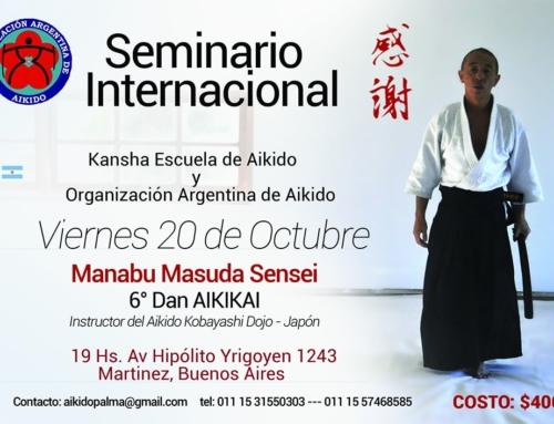 2017-10-20 | Aikido Seminario Internacional – Manabu Masuda Sensei – Dojo Central