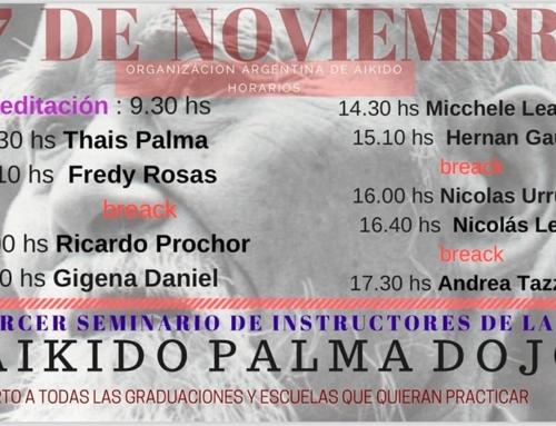 2018-11-17 | 3er SEMINARIO DE INSTRUCTORES DE LA OAA